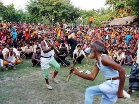 নওগাঁর মান্দায় প্রচেষ্টা'র উদ্যোগে লাঠি খেলা অনুষ্ঠিত