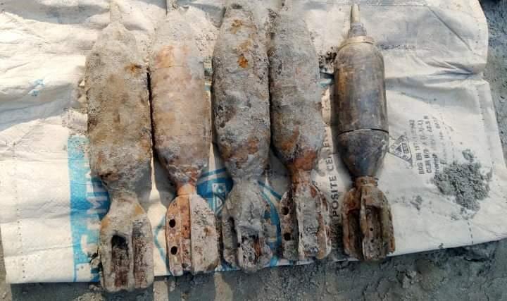 চান্দিনায় অবিস্ফোরিত ৫টি মর্টার শেল উদ্ধার