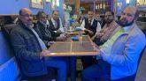 বারমিংহামের আকাশ রেঁস্তোরার সতবাধিকারীর সাথে কমিউনিটি ব্যক্তিত্বদের সৌজন্য সাক্ষাত